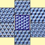 hexagon mallen en ontwerppapier