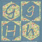 G g H h hexagon in vierkant